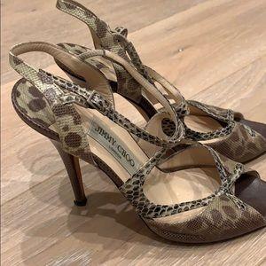 Jimmy choo strappy sandal, size 39. ( 8.5)
